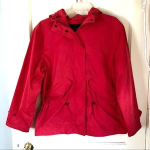Red Rain Jacket Coach